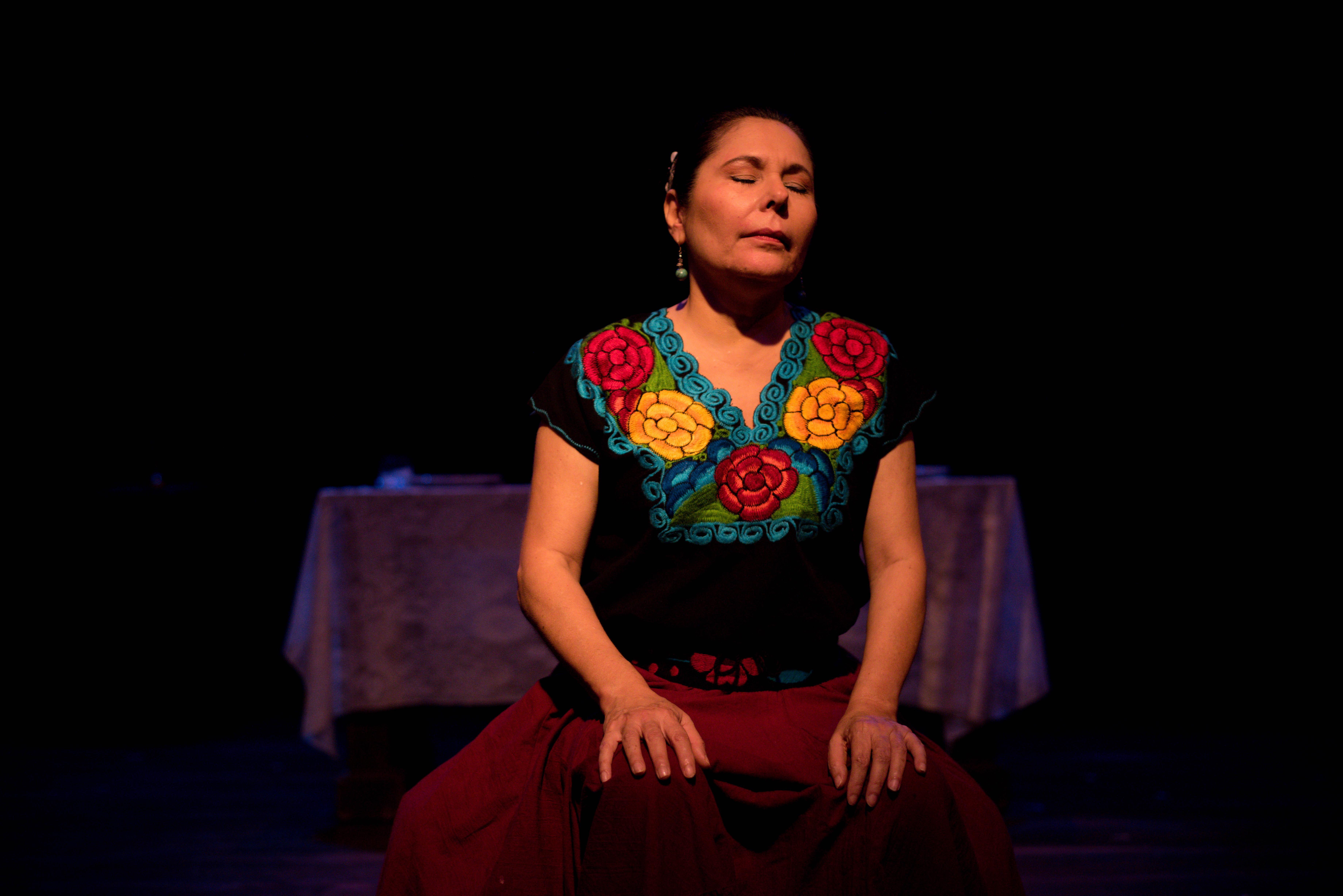"""en estreno """"francisca"""". teatro justo rufino garay."""