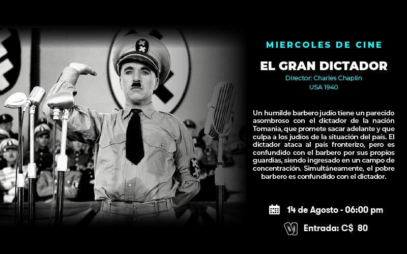 Cine: El Gran Dictador - Dir. Charles Chaplin